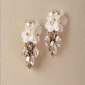 BHLDN Orchid Waterfall Bridal MOB Boho Earrings